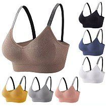 Sports Bra Women Fitness Tops Seamless Yoga Bra Women Solid Quick Dry Padded Seamless Gym Crop Top Women Push Up Sport Bra Tops