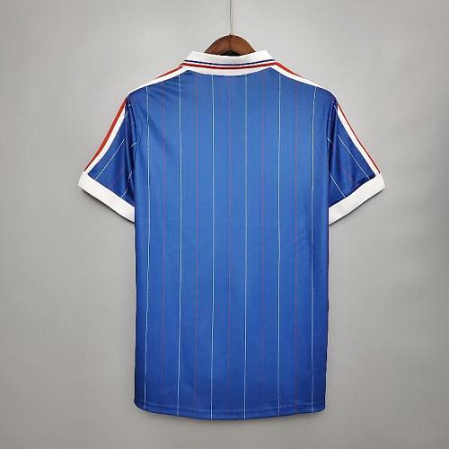 Retro 1982 Platini Trésor Giresse Classic Men Shirts Vintage Jersey Fast shipping.
