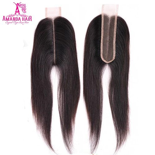 Brazilian Straight Hair Kim K Lace Closure Middle Part Pre Plucked 5x5 Closure With Baby Hair Human Hair Swiss Can Bleached