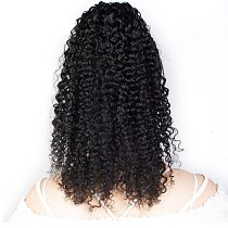 Tinashe Beauty Kinky Curly Wavy Drawstring Ponytail Human Hair Afro Clip In Extensions for women Pony Tail Remy Natural Black
