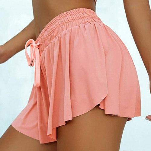 Sports Tennis Skirt Yoga short Double-Layer Fitness Women Shorts Volleyball Skorts Short High Waist Workout Yoga Leggings Shorts