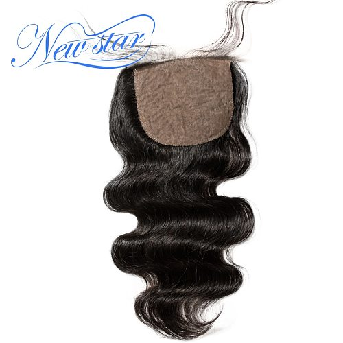 Silk Based Closures Body Wave Brazilian Virgin Hair Free or Middle Part Pre Plucked Hairline With Baby Hair New Star Hair