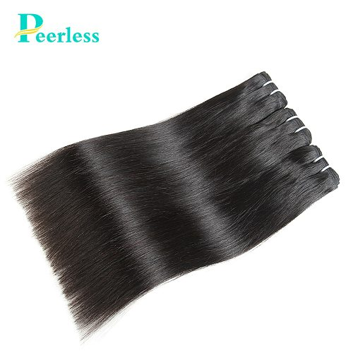 PEERLESS Virgin Hair Weave Peruvian Straight Bundles 3 Pieces 10-28 Inches Natural Color 100% Raw Human Hair Extensions
