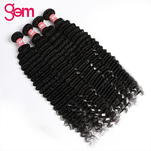 30 Inch Deep Wave Bundles Brazilian Hair Weave 4 / 3 Bundles Deal Wet And Wavy Long Hair GEM Hair Extensions Human Hair Bundles