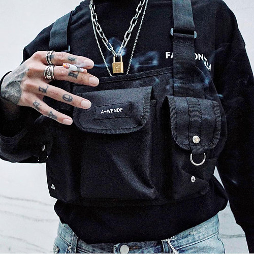 Military Tactical Vest Chest Rig Pack Paintball Men Pouch Holster Tactical Harness Bag Hunting Shooting Molle Fashion Chest Bag