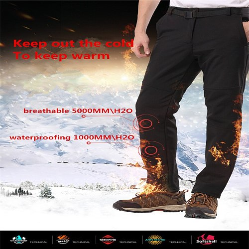 5XL Men's Spring Softshell Waterproof Pants Outdoor Sports Brand Clothing Camping Hiking Climbing Trekking Male Trousers hunting