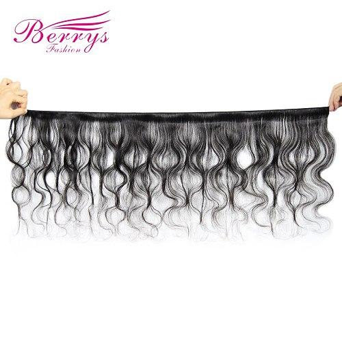 Berrys Fashion Brazilian Body Wave 3PCS/Lot 100% Human Hair Bundles Natural Black Color 10-28 inch Remy Hair Weaving Double Weft