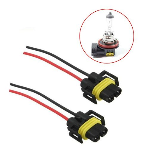 2 pcs H11 H8 Wire Harness Socket Female Adapter for Headlight Fog Light
