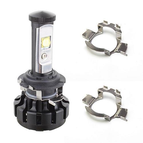 2pcs H7 LED Headlight Bulb Holders Adapters Socket for Benz BMW Audi VW Mercedes-Benz Auto High temperature plastic Headlamp