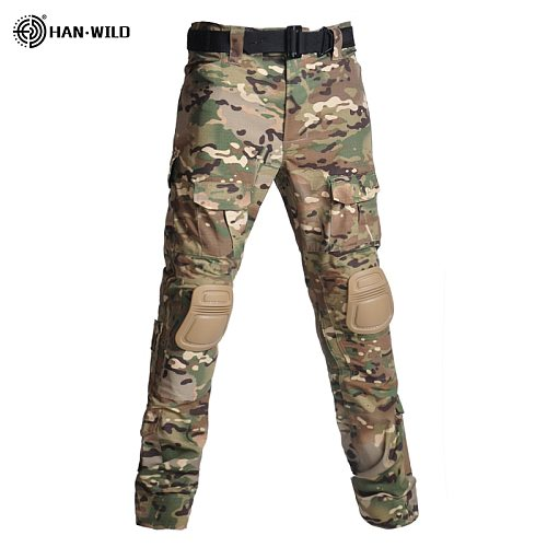 Plus Size S-8XL Men's Cargo Pants With Pads Army Military Tactical Pants Male Camo Hunting Cotton Many Pockets Camouflage Pants