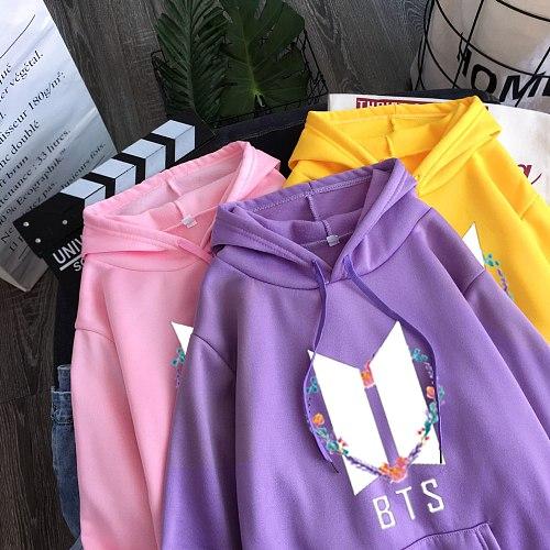 2020 new winter warm sports hoodie plus velvet women's student college cute print long sleeve hoodie sweatshirt