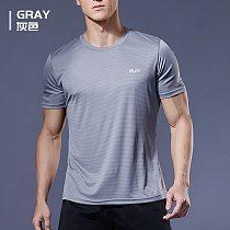 2020 Polyester Gym Shirt Sport T Shirt Men Short Sleeve Running Shirt Men Workout Training Tees Fitness Top Sport T-shirt