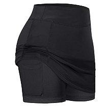 2020 Women's Tennis Skirts Run yoga Inner Shorts Elastic Sports Golf Pocket Skirts Breathable Solid Color Women's Tennis Skirt F