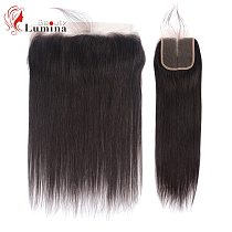 Straight Closure 4x4/13x4 Lace Frontal Hand Tied Human Hair Closure Free/Middle/Three Part Lace Closure Remy Hair Pre Plucked