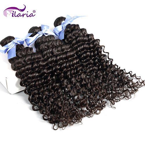 ILARIA Malaysian Curly Hair Deep Wave Bundles Unprocessed Virgin Human Hair Weaves Bundles Natural Color Free Shipping 3