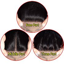 1-2-5 Pieces/Lot Straight Lace Closure 4x4 Free/Middle/Three Part Peruvian Human Hair Extension Lace Closure Remy Jarin Hair