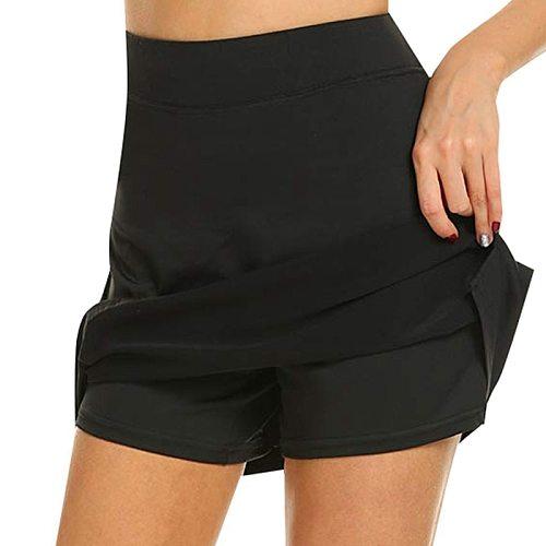 Women Active Skorts Quick Dry Female Running Tennis Skirt With Shorts Inner Lightweight Workout Sports Shorts Tennis Skorts