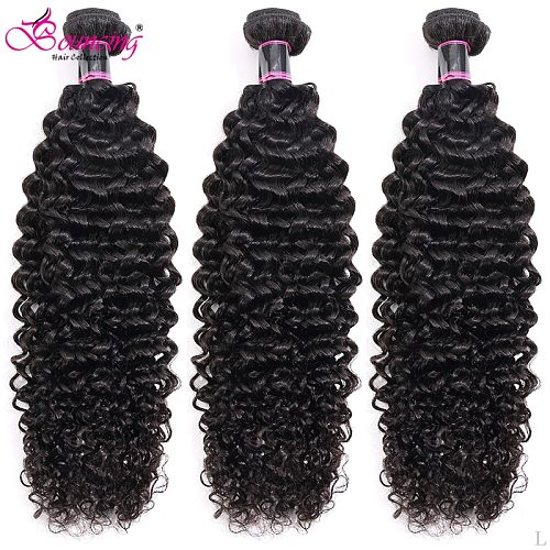 Bouncing Kinky Curly Bundles Indian Remy Human Hair Bundles Deals 26 28 30Inch Double Drawn Hair Weave Natural Hair Extension