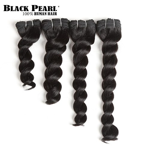 Short Brazilian hair weave bundles remy loose deep hair 4pcs cheap human hair bundles 8 10 12 14 inch loose deep bundles