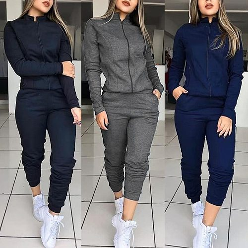 2 Piece Running Set Sexy Bodycon Tracksuit Women Full Sleeve Hoodies Pullover Top Pants Suits Casual Clothes Outfits For Women