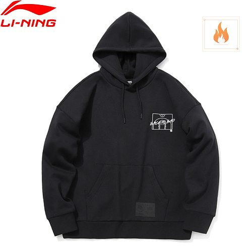 Li-Ning Men BAD FIVE Basketball Series Hoodie Loose Fit 65% Polyester 35% Cotton LiNing Sports Sweatshirt AWDQ767