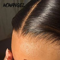 Invisible HD Lace 13x4 Lace Frontal Human Hair Straight Transparent HD Lace Melt Skins Pre Plucked Baby Hair Remy Wowangel