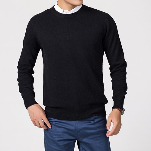 Men's Sweater Hiking Shirst Male Hot Sale Wool Fabric Top Qulity Round Neck Sweaters For Men Shirts SYY09