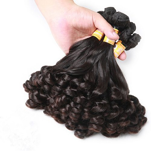 Mayflower Double drawn Funmi Hair Spring curl 1/2/3/4 bundles mixed length 8-18  Natural black Remy hair full end no tangle