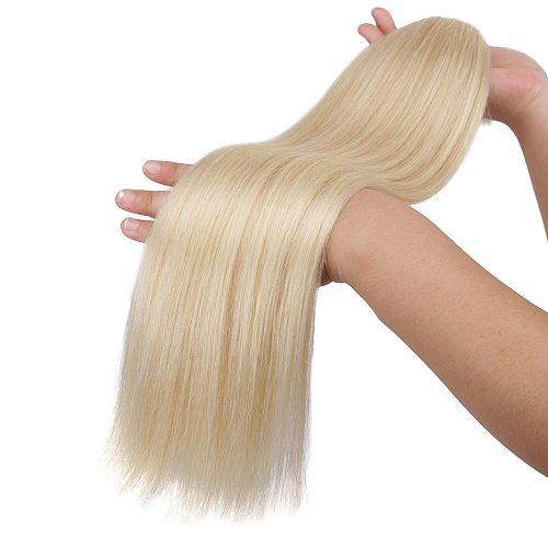 Real Beauty Mongolian Straight Hair Bulk Weaving For Braiding No Weft Blond Remy Human Hair Bulk Extensions