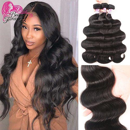 Body Wave Brazilian Hair Weave 3 Bundles 100% Remy Human Hair Weaving Natual Color 8-30 inch Hair Beauty Forever