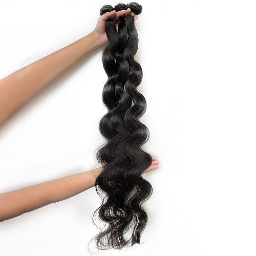30inches Unprocessed Raw long hair bundles Brazilian Virgin Hair Body Wave Human Hair Double Drawn middle ratio