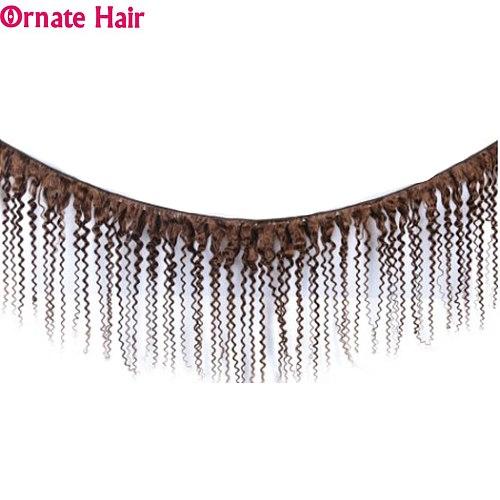 3 Bundles Brazilian Kinky Curly Hair Bundles Non-Remy Human Hair Extensions Pre-Colored Bundles 8-24 Inch Kinky Curly Bundles