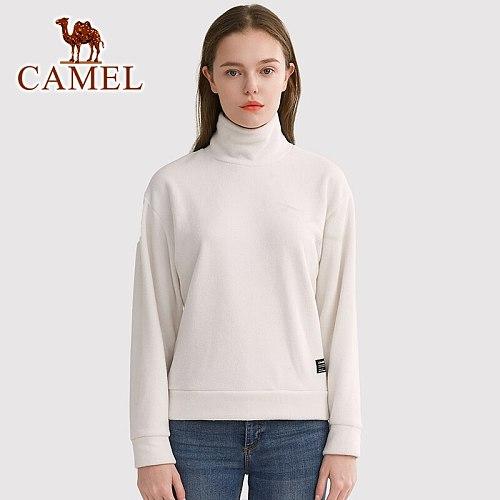 CAMEL Official Original Outdoor Sports Couple Spring Fleece Men Women Self-cultivation Fleece Warm Stand-up Collar Fleeces