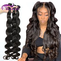 ILARIA 28 30 32 40 Inch Brazilian Body Wave Raw Human Hair Bundles Remy Hair Water Wave Bundles Weaves Deals Products Wholesale
