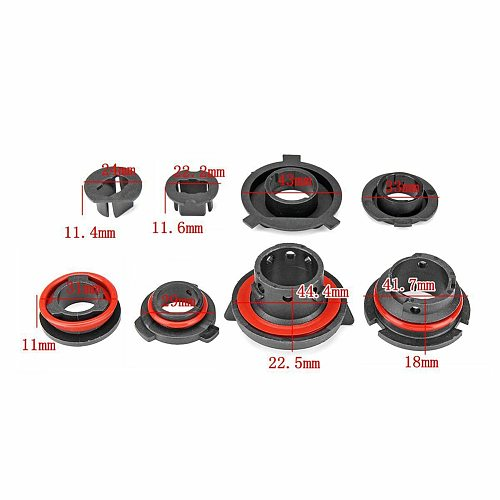 2pcs Car LED Headlight Lamp Bulb Base Adapter Sockets Retainer Holder 9004/9005/H13/H11/H7/H4/H3/H1