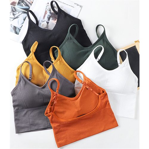 Cotton Sports Bras Women Push Up Solid Sports Bra Jogging Gym Women Sports Bra Girl Underwear Fitness Running Yoga Sport Tops
