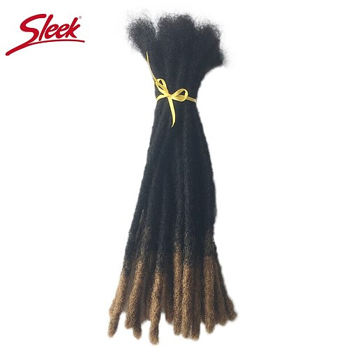 Sleek Dreadlock Hair Styles Ombre Color 27 Extension Braids Remy Mongolian Human Hair Extensions 12-20 Inches 20 Strands Crochet