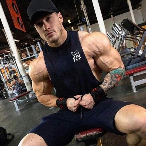 Summer Running Vest Men Muscle Sleeveless Sport T Shirt Bodybuilding Tank Top Gym Fitness Workout T-shirt Sport Vest Undershirt