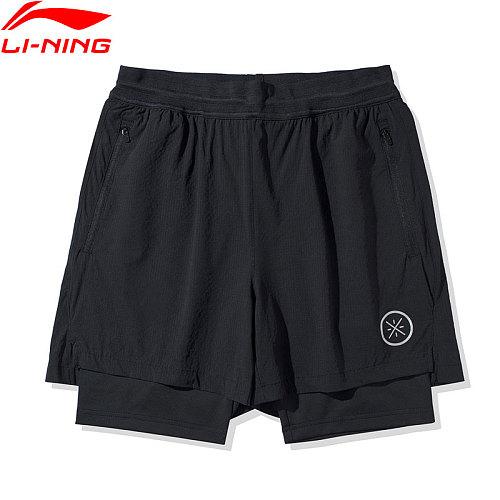 Li-Ning Men Wade Series Track Shorts 77.4%Nylon 22.6%Spandex li ning LiNing Regular Fit Sports Fitness Shorts AKSQ051