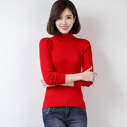 Womens Sweater Hiking Shirt Female Hot Sale Wool Fabric Top Qulity Turtle Neck Sweaters For Women ShirtsSWH02