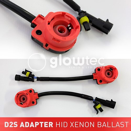 2 PCS D2 D2C D2S D2R Adapter AMP Socket Converter Cable XENON Harness Wire HID Bulb Base Adaptor Car Accessories GLOWTEC,