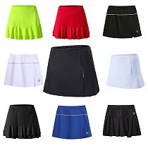 New Women's Tennis Skorts skirt, Girl sport Skirts with Safety Shorts,female Running Tennis Skirts,Quick Dry badminton skirt