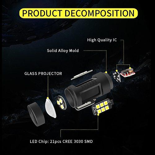 AILEO Super Canbus Erro Free PS24W 5202 5201 h16 Led Car Fog Light 1200LM White 6000K yellow 3000k 12V 24v Auto Lamp Bulbs