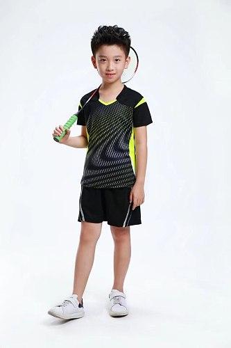 sport t-shirt boys,child badminton Jersey clothes,Table tennis shirt Polyester tennis shirt Shorts ,kids training t-shirs XS-3XL