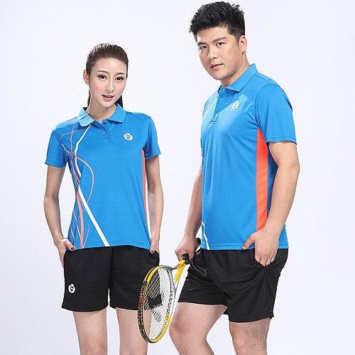 Table Tennis Jerseys Men & Women Badminton Training suit jersey & shorts Set empty Style Short-sleeved Running Wear Tennis