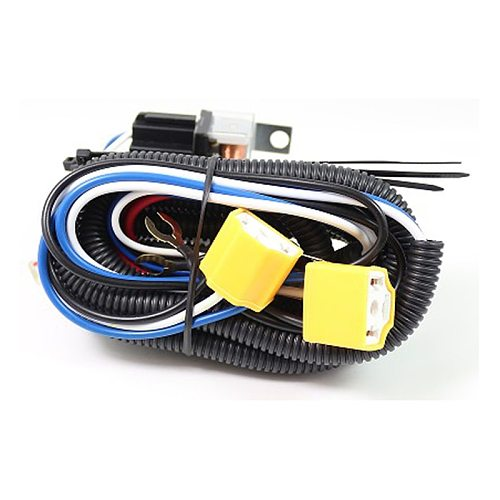 12V 60W Car H4 Headlight LED Light Bar Wire Wiring Harness Relay Loom Cable Kit 2 Headlamp Light Bulb Socket Plug