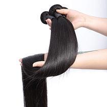 Missanna 30 32 34 36 38 40Inch Straight Bundle Brazilian Soft Weave Bundles 1/3/4 Pcs Thick Natural Remy Human Hair Extensions