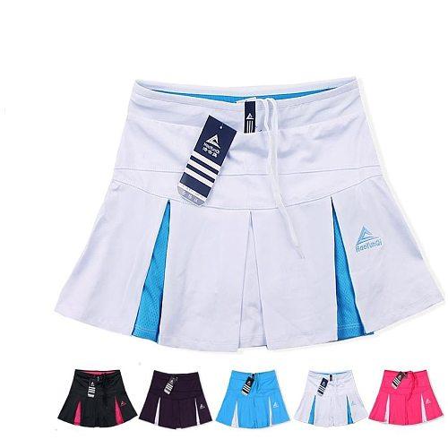 Girls Sports Skorts ,Half length tennis skirt , quick drying lady split white large size thin fitness yoga slim running skirt