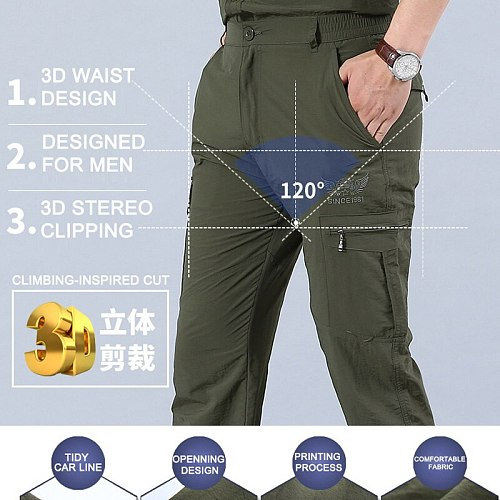 2020 Breathable Quick Dry Hunting Pants Summer Army Military Trousers Lightweight Tactical Casual Pants Waterproof Trousers