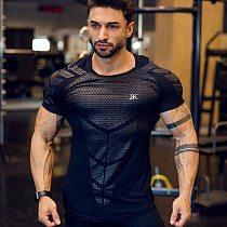 2021 New large-type Men Compression T-shirt men Sporting Skinny Tee Shirt Male Gyms Running T-shirt Fitness Sports men t-shirts